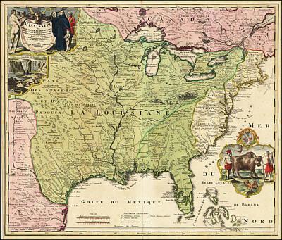 Painting - Amplissimae Regionis Mississipi Sue Provinciae by Johann Baptist Homann