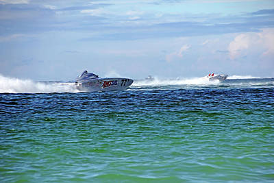 Photograph - Amsoil 77 Power Boat by Debbie Oppermann