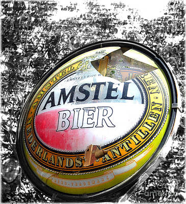 Nederland Digital Art - Amstel Bier  by Steven Digman