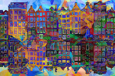 Amsterdam Painting - Amsterdam Abstract by Jacky Gerritsen