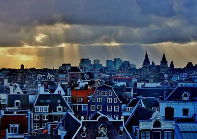 Amsterdam After The Storm Art Print by Stacie Gary