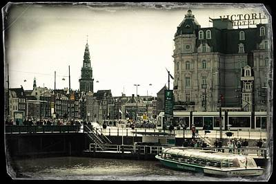 Photograph - Amsterdam And Park Plaza Victoria Hotel. Old Cards by Jenny Rainbow