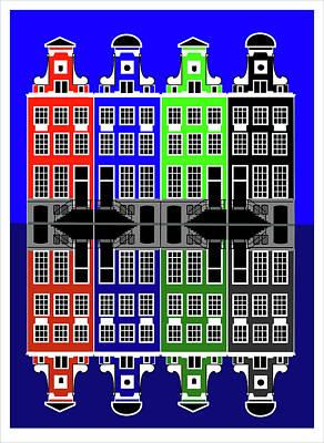 Mixed Media - Amsterdam by Asbjorn Lonvig