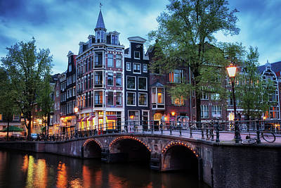 Old Home Place Photograph - Amsterdam At Twilight by Artur Bogacki