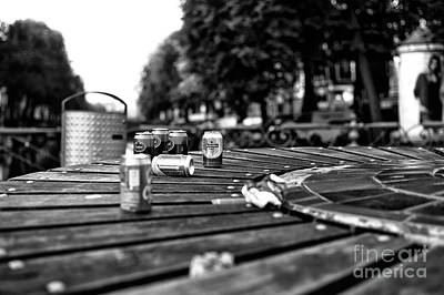 Empty Beer Cans Photograph - Amsterdam Beer Mono by John Rizzuto
