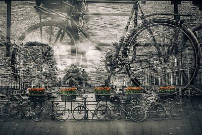 Amsterdam Bicycle Nostalgia Print by Melanie Viola