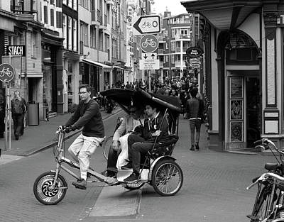 Photograph - Amsterdam Bicycle Taxi by Aidan Moran