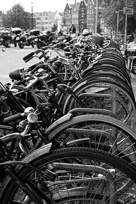 Photograph - Amsterdam Bicycles by Aidan Moran