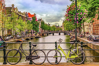 Photograph - Amsterdam Bicycles by Janis Knight