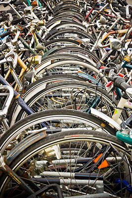 Photograph - Amsterdam Bike Parking by Alexander Kunz