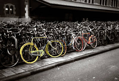 Photograph - Amsterdam Bikes by Wayne King