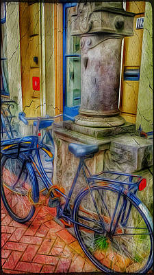 Amsterdam Blue Bike Art Print