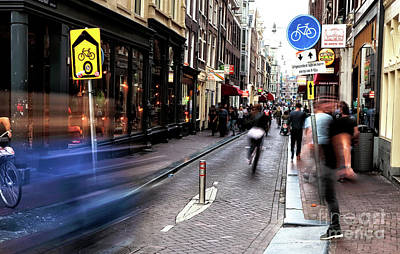 Photograph - Amsterdam Blue Streak by John Rizzuto