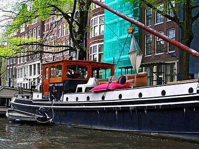 Photograph - Amsterdam Boat by Dj