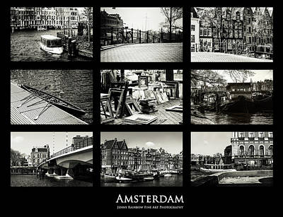 Amsterdam By Jenny Rainbow Art Print by Jenny Rainbow