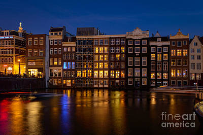 Amsterdam Digital Art - Amsterdam By Night, Holland by Sinisa CIGLENECKI
