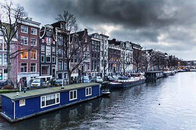 Photograph - Amsterdam Canal by Andrew Mason