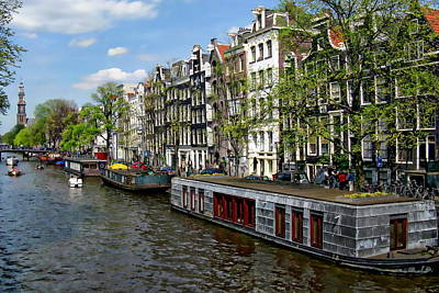 Photograph - Amsterdam Canal by Anthony Dezenzio
