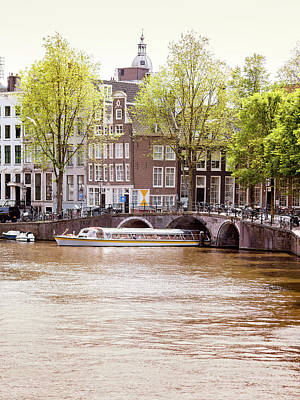 Photograph - Amsterdam Canal Before Sunset. Amsterdam Is The Capital And Most by Alfio Finocchiaro