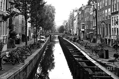 Photograph - Amsterdam Canal Construction 2014 by John Rizzuto