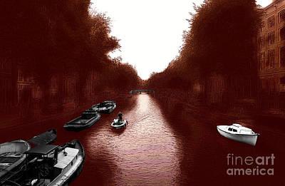 Amsterdam Digital Art - Amsterdam Canal Dreams by John Rizzuto