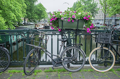 Photograph - Amsterdam Canal by Frank DiMarco
