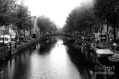 Photograph - Amsterdam Canal Glow 2014 by John Rizzuto