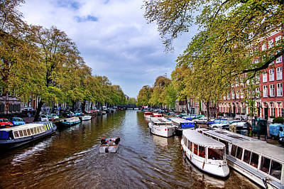 Photograph - Amsterdam Canal In Spring by Nathaniel Grant