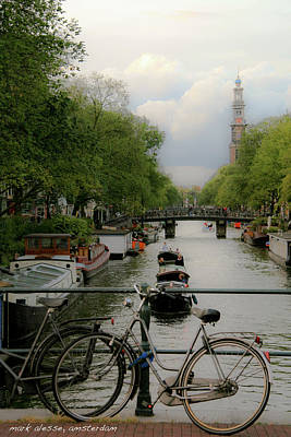 Photograph - Amsterdam Canal by Mark Alesse