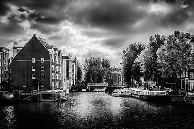 Photograph - Amsterdam Canal by Michael Niessen