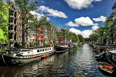 Photograph - Amsterdam Canal by Pixabay