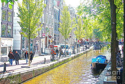 Amsterdam Canals 2 Art Print by Sergio B