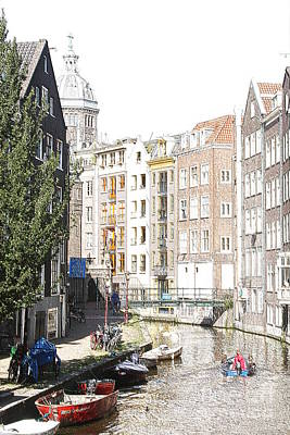 Amsterdam Canals 4 Art Print by Sergio B
