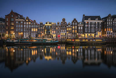 Amsterdam Canals Art Print by Reinier Snijders