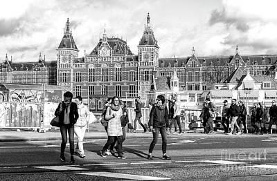 Photograph - Amsterdam Crossing by John Rizzuto