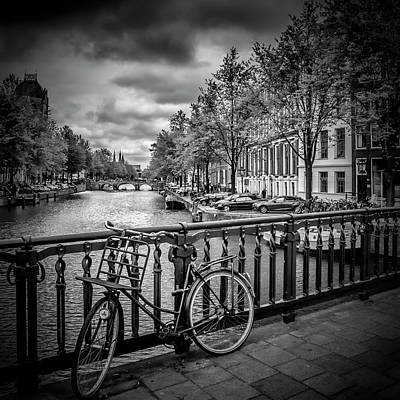 Grey Clouds Photograph - Amsterdam Emperor's Canal by Melanie Viola
