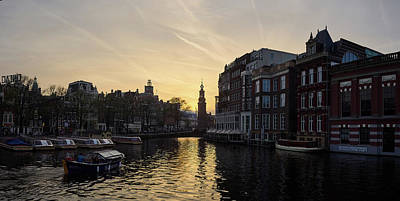 Photograph - Amsterdam Evening Panorama by Jouko Lehto