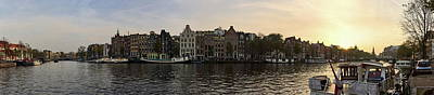 Photograph - Amsterdam Evening Panorama Over Amstel by Jouko Lehto