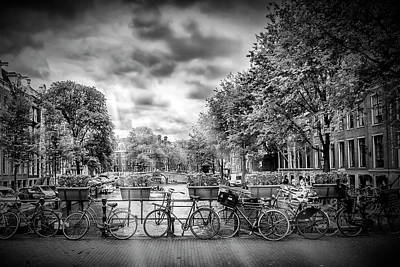 Amsterdam In Monochrome  Art Print