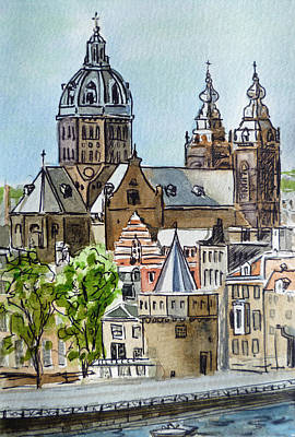 Library Painting - Amsterdam Holland by Irina Sztukowski