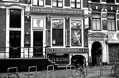 Porn Photograph - Amsterdam Hospital Bar Mono by John Rizzuto
