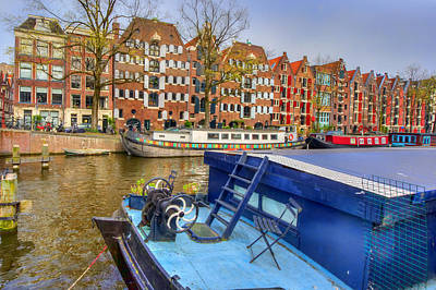 Photograph - Amsterdam Houseboats by Nadia Sanowar