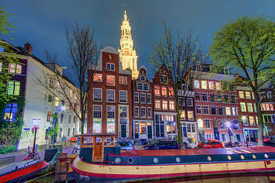 Photograph - Amsterdam Houses by Nadia Sanowar