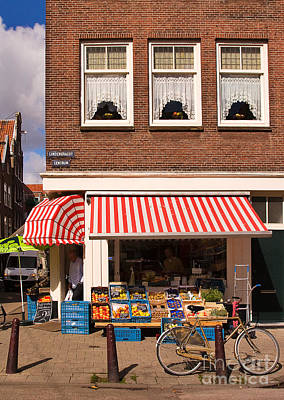Corner Stores Photograph - Amsterdam by Louise Heusinkveld