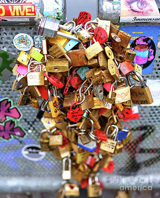 Photograph - Amsterdam Love Locks by John Rizzuto
