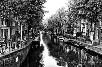 Photograph - Amsterdam Neighborhood Mono by John Rizzuto