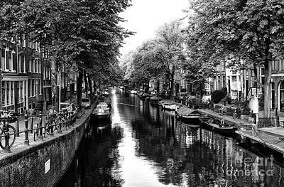 Amsterdam Neighborhood Mono Art Print by John Rizzuto