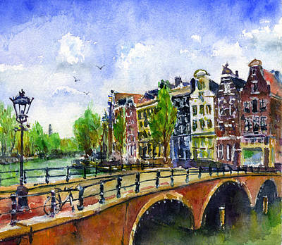 Painting - Amsterdam Netherlands by John D Benson