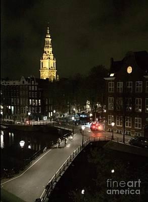 Photograph - Amsterdam Night Glow by Susan Hendrich