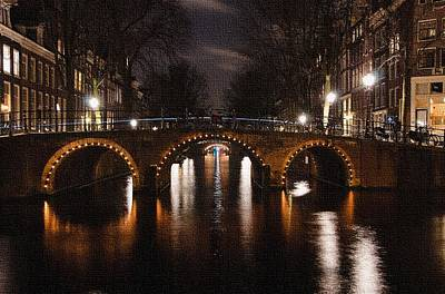 Amsterdam - Night Life L B Art Print